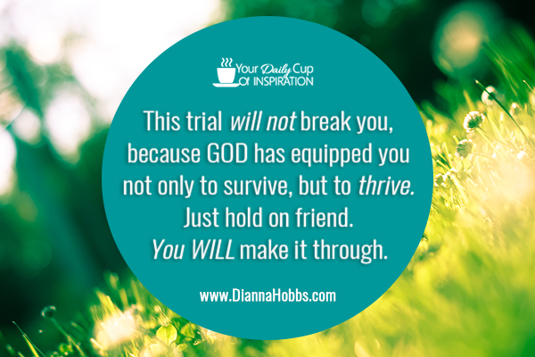 God knows you can take it - Your Daily Cup of Inspiration!