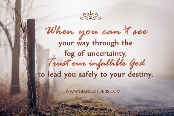 Trust in god he has a plan